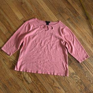 Lane Bryant Pink Sweater with Keyhole Neckline
